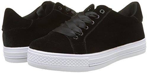 Mujer Velours Para Bracken Molly Sneakers black Negro Zapatillas qXEgp8nw