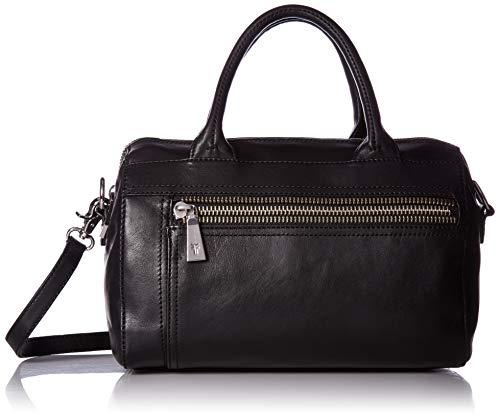 FRYE Lena Zip Leather Satchel Bag, Black