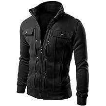 Yang-Yi 2017 Fashion Mens Slim Designed Lapel Cardigan Coat Jacket Top Hot