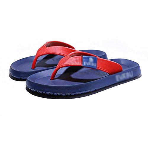 Grigio UK6 Spiaggia Nere Antiscivolo Blu In All'aperto confortevole e dimensioni Scarpe HUO CN39 Uomo Sandali Pantofole Gomma Grigio Da Assorbente Estate Colore EU39 Blu wUq1PSvA