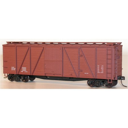 Accurail HO KIT 40' 6-Panel Wood Boxcar, Data/M ACU7298