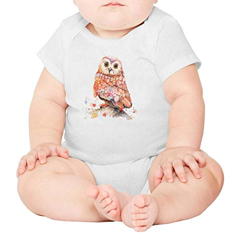 - Classic Hand painted owl onesie for baby Unisex Infant Newborn Toddle Boys Girls bodysuit