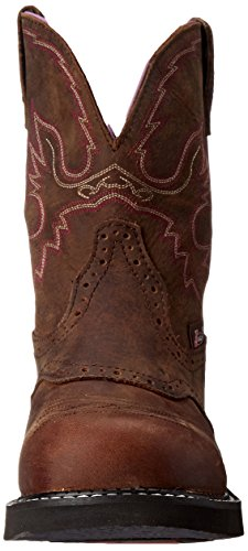 Justin Boots Women's Gypsy Collection 8'' Steel Toe,Aged Bark,5.5B by Justin Boots (Image #4)