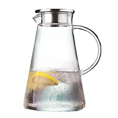 2 liter glass pitcher with lid - 8