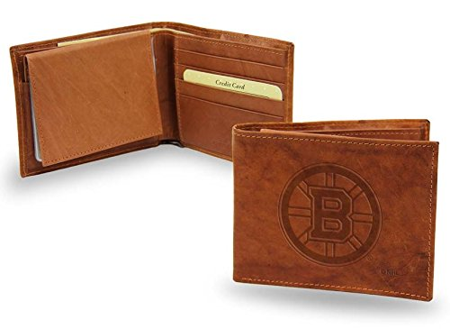 Boston Bruins Official NHL Leather Billfold (Leather Boston Bruins Wallet)