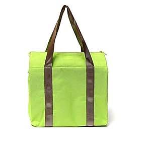 Green Insulated Bag Thermal Lunch HandBag