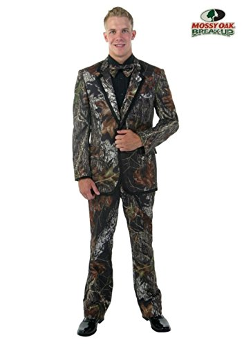 New Mossy Oak Break-Up Alpine Formal Camo Tuxedo Package with Vest & Bow Tie (Large (44-46))