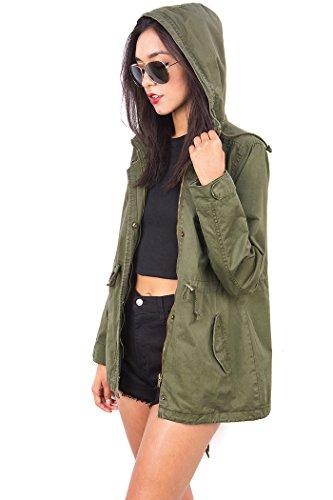 Ambiance Womens Cargo Hoodie Jacket