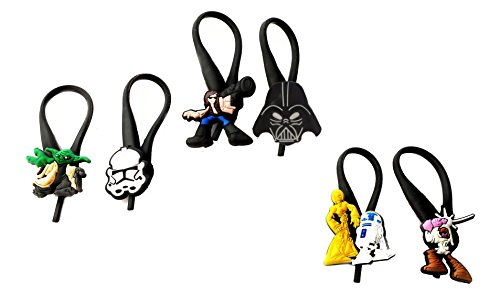 Costume Dea Jacket (AVIRGO 6 pcs Soft Zipper Pull Charms for Backpack Bag Pendant Jacket Set #)