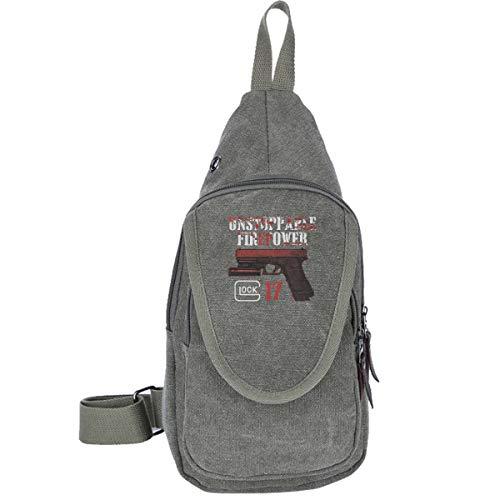 Glock 17 Beretta Perfection Blackwater Glock Gun Shooting Team Gotcha Traveling Chest Bags For Men&Women Multipurpose Casual Daypack Hiking Shoulder Bag