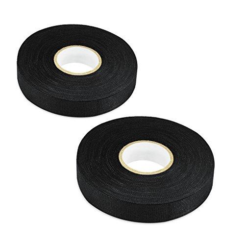 19 Fabric (LOOYUAN 2pcs Wiring Loom Harness Adhesive Cloth Fabric Tape 19mm/25m)