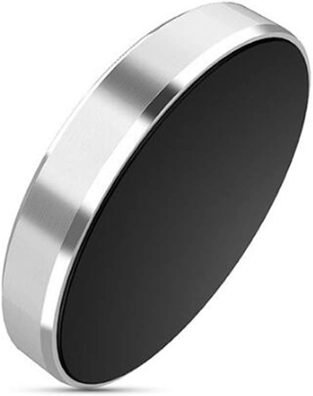 Silver Universal Flat Stick On Dashboard Magnetic Car Mount Holder for Cell Phones and Mini Tablets