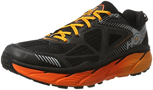 HOKA ONE ONE Men's Challenger ATR 3 Trail Running Shoe,Black/Red Orange,US 10 M