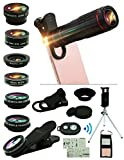 Cell Phone Camera Lens Kit,15 in 1 Universal 22x Zoom Telephoto,0.63Wide Angle+15X...