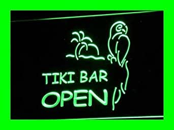 ADV PRO i067-g OPEN Tiki Bar NEW Displays Pub Neon Light Signs