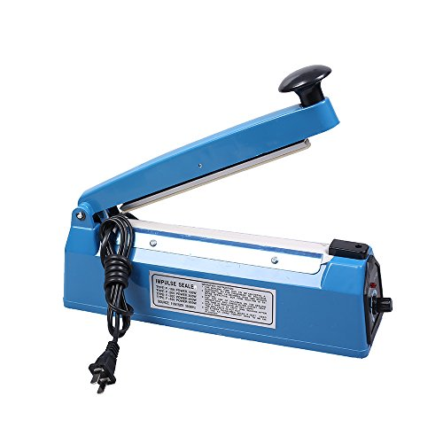8'' Heating Strip Electric Impulse Sealer for Sealing PP PE Poly Plastic Bags Commercial & Personal Use by QQ Studio