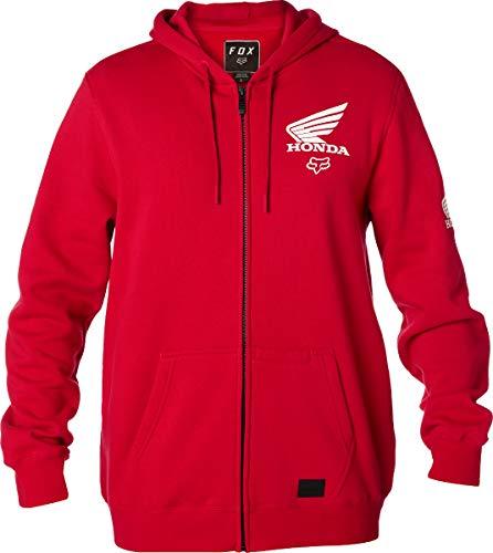 Honda Hoody Sweatshirt (Fox Racing Honda Zip Hoody-Dark Red-2XL)