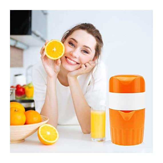 ScentRose Citrus Orange Juicer Lemon Squeezer, Manual Hand Juicer with Strainer and Container, for Lemon,Orange,Lime,Citrus(Random Color) 6
