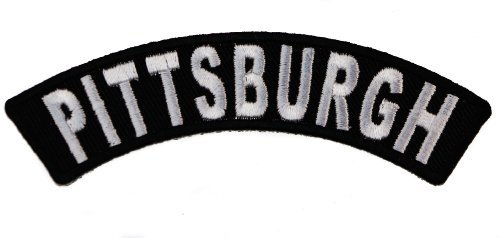 - PITTSBURGH City Rocker Iron or Sew on Embroidered Patch IVANP3625