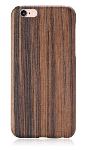 iPhone 6 Plus / iPhone 6s Plus Case, PITAKA [Aramidcore Wood Series] Hard Natural Wood Case for iPhone 6 Plus / iPhone 6s Plus (5.5 Inch) - Santos Rosewood Santos Rosewood Veneer
