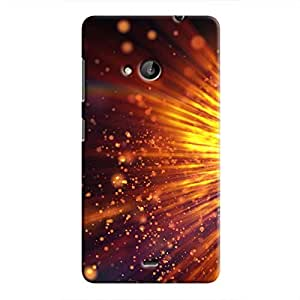 Cover It Up - Gold Exploding Lumia 535 Hard Case