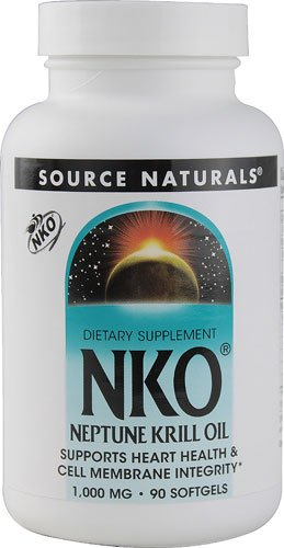 Source Naturals NKO® Neptune Krill Oil -- 1000 mg - 90 Softgels - 3PC