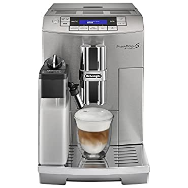 Delonghi ECAM28465M Prima Donna Fully Automatic Espresso Machine with latte Crema System, Silver
