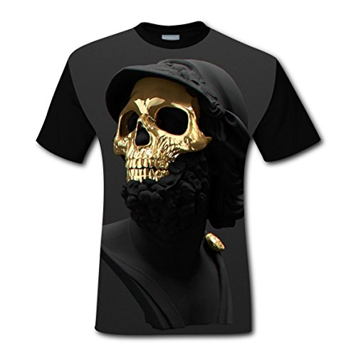 Frozen Family Costume Ideas (Cool Skull Men Boys Short Sleeve Tshirts Sports Tee Top for Mens XL)
