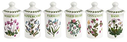 Botanic Garden Set - Portmeirion Botanic Garden Set of 6 Assorted Spice Jars