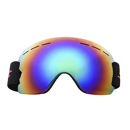 Spring fever OTG Ski Snowboard Snow Goggles for Men & Women 100% UV Protection Windproof Helmet Compatible Detachable Lens - 50% One One Buy Sunglasses Off Get