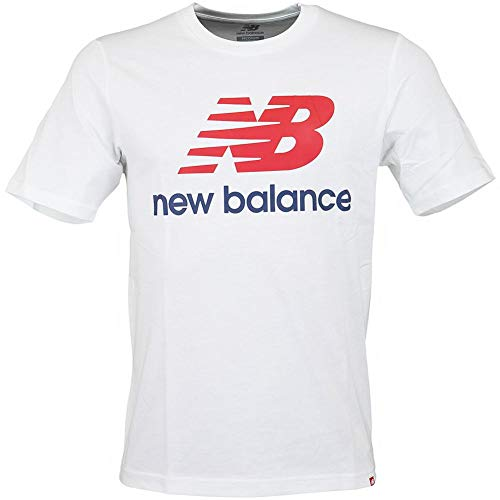 Blanc Empilées Homme Pour Tee Essentials Logo Balance New multicolore A10pfqw