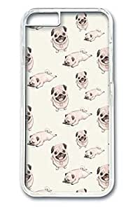 iPhone 6 Case,[Perfect-Fit] iPhone 6(4.7) Slim Hard PC Clear Case Protector Cover for New iPhone 6 Cute Pink Pugs
