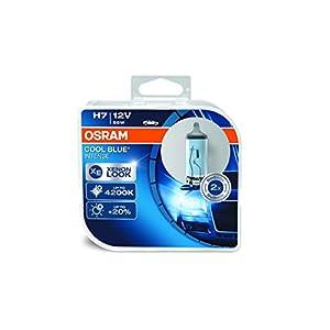 COOL BLUE INTENSE H7 de OSRAM, lámpara para faros halógena, 64210CBI-HCB, automóvil de 12 V, estuche doble (2 unidades)