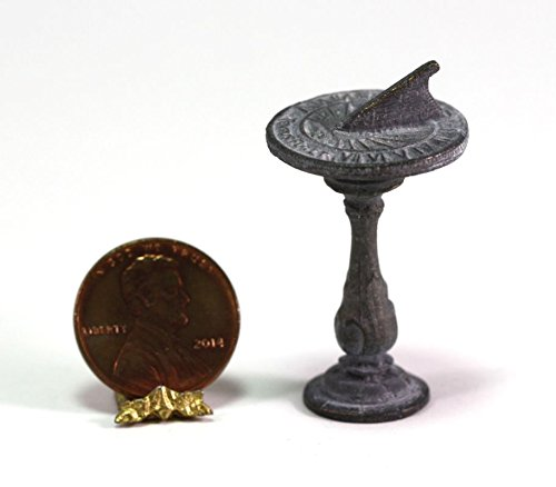 Dollhouse Miniature 1:24 Scale Aged Sundial by Island Crafts & Miniatures