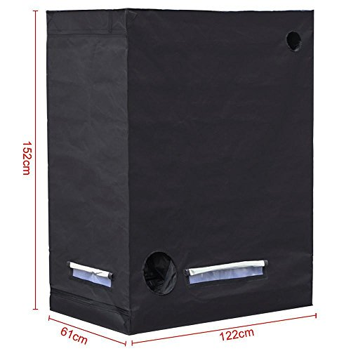 Yaheetech Black Waterproof Germination Room Hydroponic Grow Tents for Indoor Plant growing, 48 x 24 x 60inch(L x W x H)