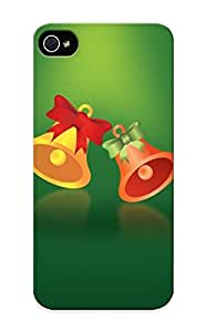 B2e24e1914 Tpu Phone Case With Fashionable Look For Iphone 5/5s - Green Christmas Bells Case For Christmas Day's Gift