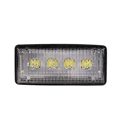 "Primelux 12-24V 2""x5"" John Deere Tractor LED Work Light Replacement Upgrade R161288 RE3745 - Panel Mount - Polycarbonate Lens - Waterproof IP67 (2""x5"" Rectangular - Driving Beam)"