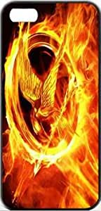 The Hunger Games Games Movie Hunger Apple iPhone 5/5s SLIM Case Carcasa [SF Matte Black (negro)] SUPER SLIM + SF COATED + PERFECT FIT Caso duro Premium Funda Cáscara Caso Cubrir