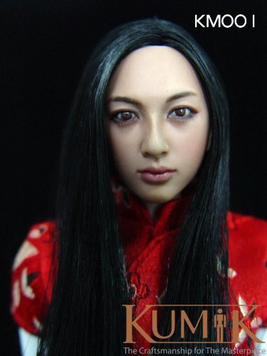 Download Beautiful woman sexy gravure idol KM made membership number 001 figure 1/6 head parts head only (Hot Toys HOTTOYS enter Bay correspondence)