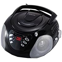Craig Portable CD Boombox with AM/FM Radio, Black (CD6918)
