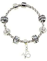 Truly Charming Purple Special SISTER Starter Charm Bracelet Pandora Style Gift Boxed 20cm