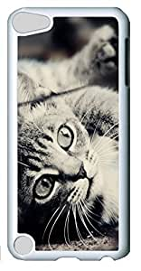 Fashion Customized Case for iPod Touch 5 Generation Cool White Plastic Case Back Cover for iPod Touch 5th with Kitty Love