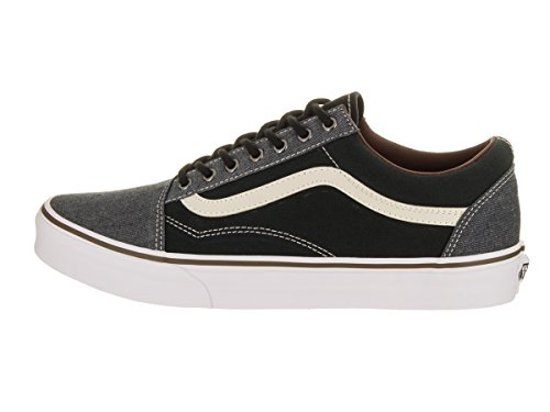 U mode Baskets Vans Black Grey White Old Homme Skool ZSwAq4d