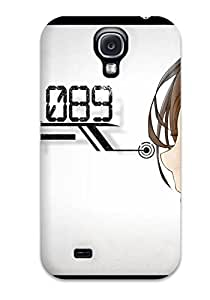 Tpu Case Cover For Galaxy S4 Strong Protect Case - Brunettesbrown Numbers Profile Original Characters Design