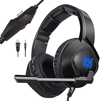 ONIKUMA K19 - Auriculares de diadema para Xbox One PS4, PC Gamer ...