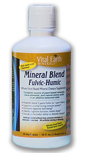 Mineral Blend Fulvic-Humic 32 Fl. Oz. - Liquid Ionic Trace Mineral Supplement by Vital Earth Minerals