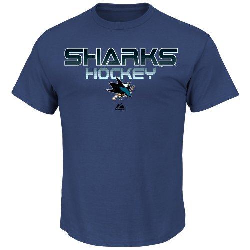 [NHL Vancouver Canucks Men's Crew Neck 5 Hole Short Sleeve Shirt, Blue Cobalt, Medium] (Vancouver Canucks Short Sleeve Shirt)