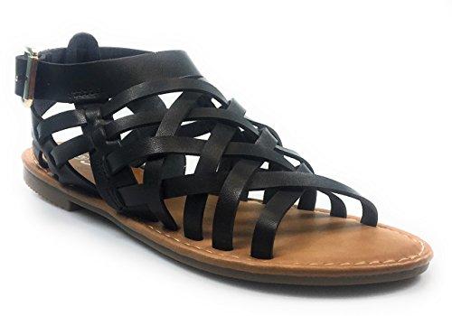 Collegamento Per Sempre Donna Open Toe Casual Sandali Con Cinturino Nero Karie-08