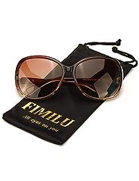 FIMILU Lentes de Sol Gran Tamaño Mujeres Montura Envolvente Cómoda con Protección UV400 para Conducir