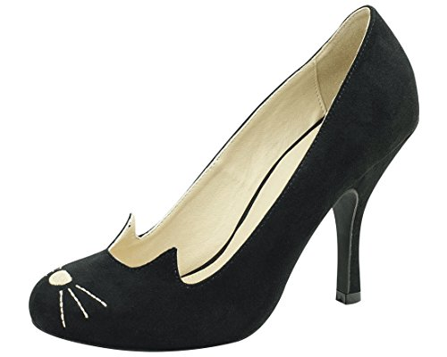 T.U.K. Shoes A8813L Sophisticated Kitty Heels (Halloween Shoes)